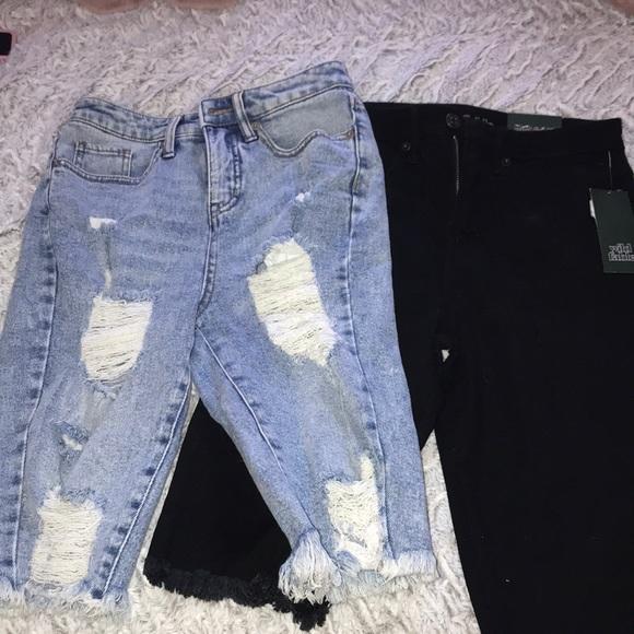 High rise shorts